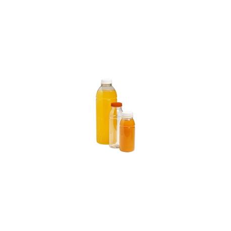 Pet fles transparant rond 250ml doos a 50 stuks