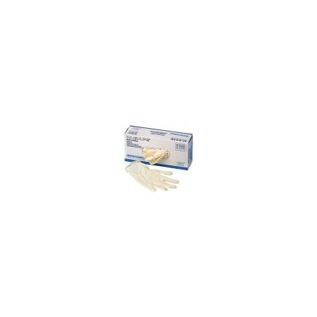Latex Disposable handschoenen Wit gepoederd Maat L