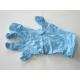 Latex Disposable handschoenen Blauw gepoederd Maat S