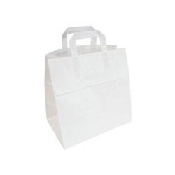 Papieren draagtassen wit 320x180x270 300 st