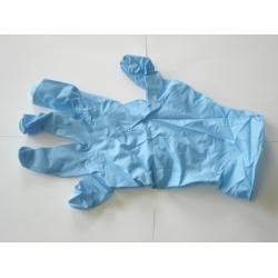 Latex Disposable handschoenen blauw gepoederd Maat L