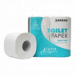 Toiletpapier euro eco tiss. 400 vel 2 lgs 10 x 4 rol p/pak